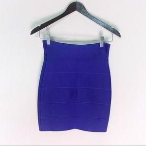 BCBG purple bandage style skirt XS compression